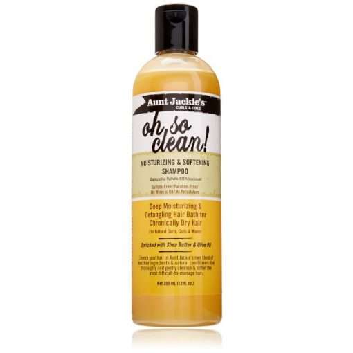 AUNT JACKIES OH SO CLEAN MOISTURIZING AND SOFTENING SHAMPOO, 12 FL. OZ