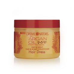 CREME OF NATURE ARGAN OIL DAY AND NIGHT HAIR SCALP CONDITIONING HAIR DRESS 4.76oz
