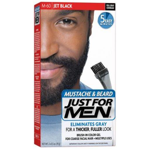 JUST FOR MEN BRUSH - IN COLOR MUSTACHE & BEARD- JET BLACK