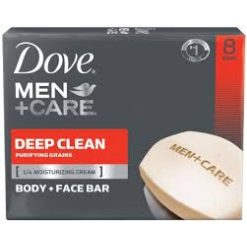 Dove Men Care Body And Face Bar, Deep Clean 4oz,8 Bar