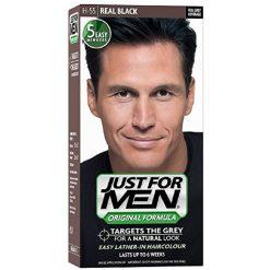 JUST FOR MEN HAIR COLOUR NATURAL REAL BLACK
