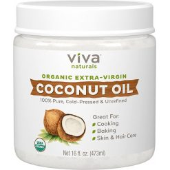 VIVA NATURALS ORGANIC EXTRA VIRGIN COCONUT OIL, 16oz