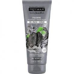 FREEMAN POLISHING CHARCOAL AND BLACK SUGAR GEL MASK + SCRUB, 6oz