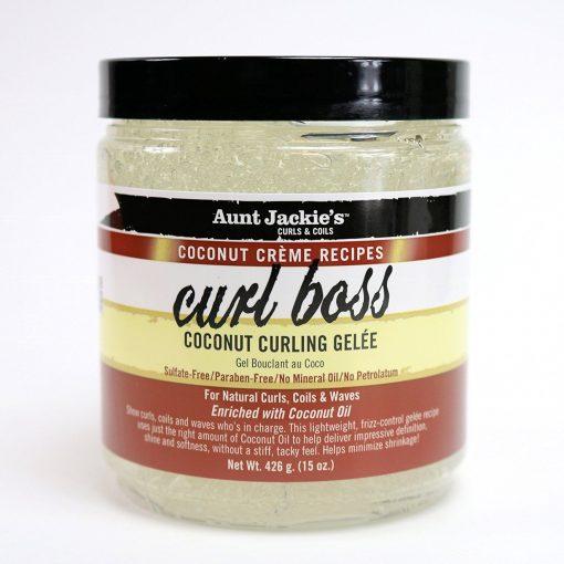AUNT JACKIE'S COCONUT CURL BOSS COCONUT CURLING GELEE 15 OZ
