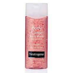 NEUTROGENA BODY CLEAR BODY WASH, PINK GRAPEFRUIT SALICYLIC ACID ACNE TREATMENT,  8.5OZ
