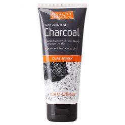 BEAUTY FORMULAS CLAY MASK WITH ACTIVATED CHARCOAL 100ML