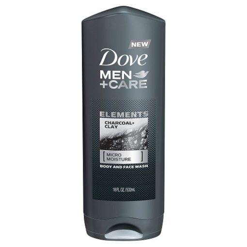 DOVE  MEN CARE  ELEMENT CHARCOAL CLAY BODY AND FACE WASH 18OZ