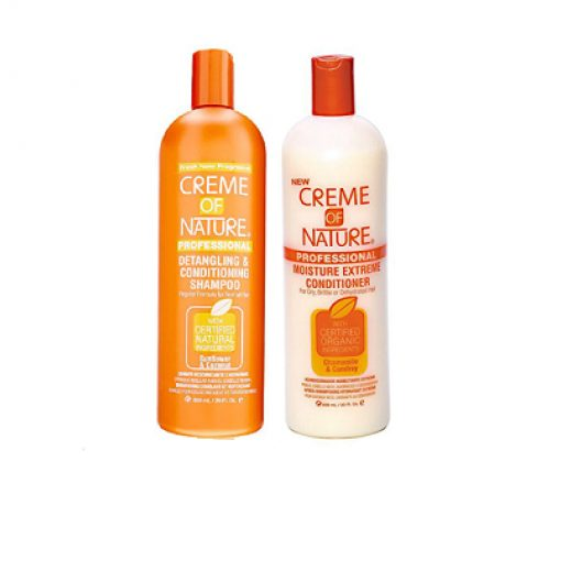 CREME OF NATURE PROFESSIONAL DETANGLING AND CONDITIONING SHAMPOO CREME OF NATURE PROFESSIONAL MOISTURE EXTREME CONDITIONER (20 OZ.)