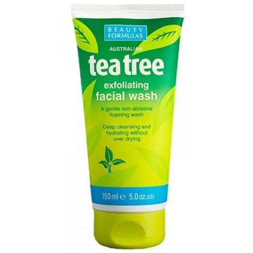 BEAUTY FORMULAS AUSTRALIAN TEA TREE EXFOLIATING FACIAL WASH 150ml
