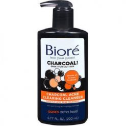 BIORE CHARCOAL ACNE CLEARING CLEANSER FOR OILY SKIN, 6.77 FL OZ