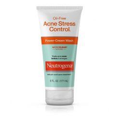 NEUTROGENA OIL-FREE ACNE STRESS CONTROL POWER - CREAM WASH 6oz