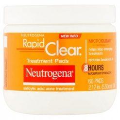 NEUTROGENA RAPID CLEAR TREATMENT PADS, 60 CT