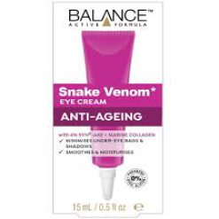 BALANCE ACTIVE FORMULA SNAKE VENOM EYE CREAM ANTI AGEING