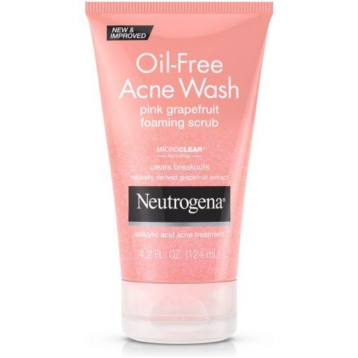 Neutrogena Pink Grape Oil-free Acne Wash Foaming Scrub 6oz