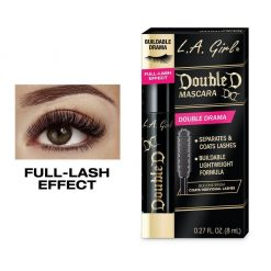 L.A GIRL  DOUBLE D MASCARA -DRAMATIC BLACK