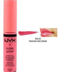 NYX BUTTER GLOSS-PEACHES AND CREAM