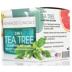 Advanced Clinicals 2-in-1 Tea Tree Clearifying Gel Mask
