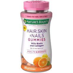 Nature's Bounty Hair, Skin & Nails + Collagen Gummies 80 Gummies